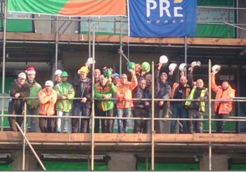 Update bouw Vijverpark #7 Het hoogste punt!